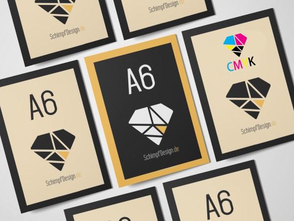 Flyer DIN A6 - 4/4 Farbdruck