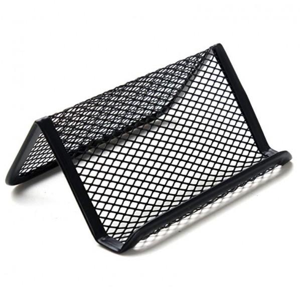Metall Visitenkartenhalter - mesh - in schwarz