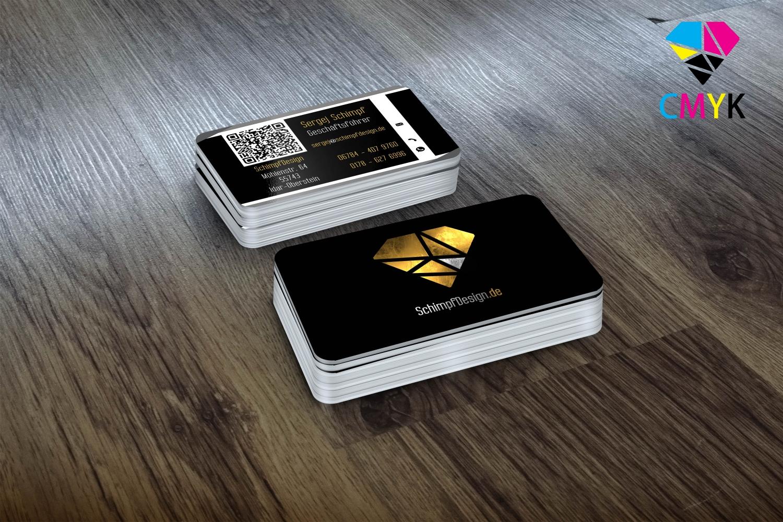Abgerundete Visitenkarten 85 X 55 Mm 4 4 Farbig Beidseitiger Druck Drucken