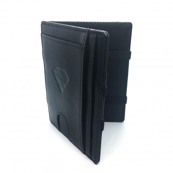 Magic Wallet mit Münzfach - Echtleder schwarz - Classic
