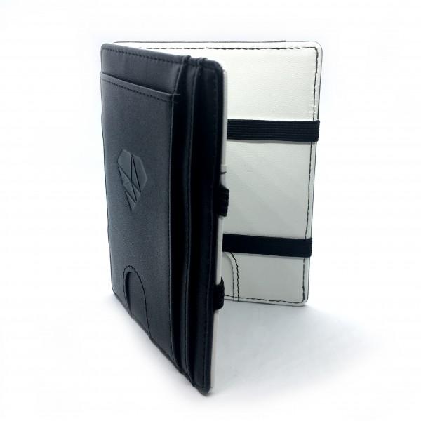 Magic Wallet mit Münzfach - Kunstleder s/w - Classic