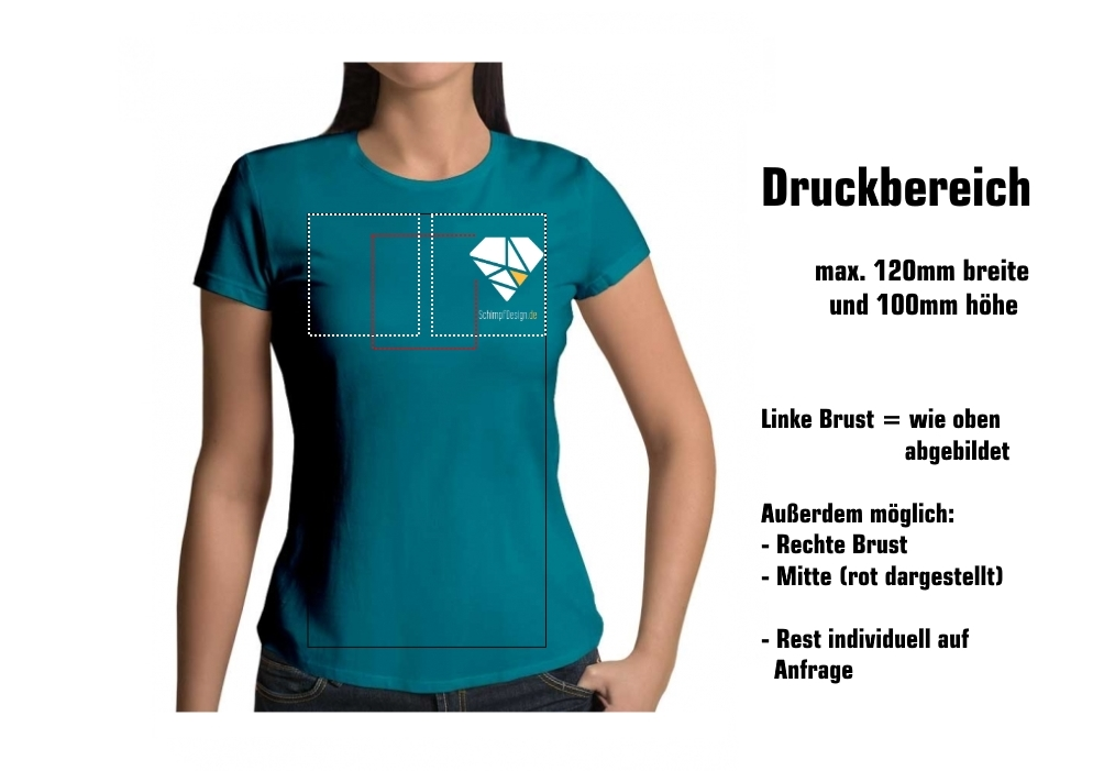 hot sale online 247d7 db578 Damen T-Shirt mit Druck (Gr. XS - XXL)
