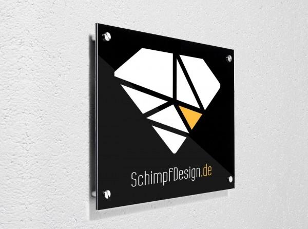 Alu-Verbundplatte / Wandschild (z.B. Firmenschild)