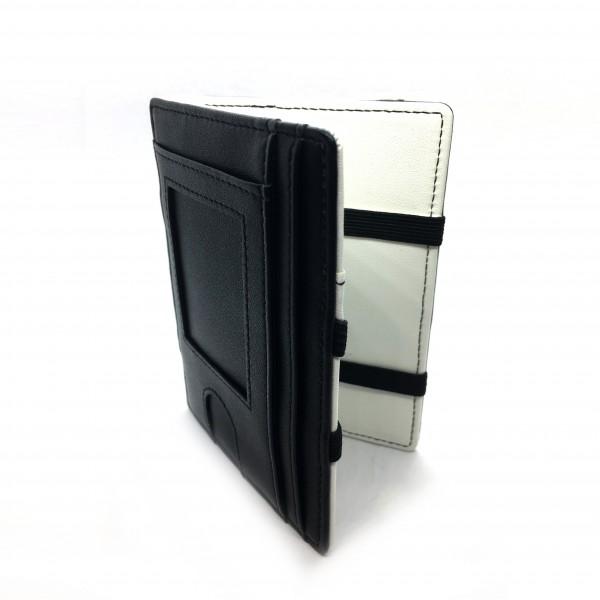 Magic Wallet mit Fenster - Kunstleder s/w | inkl. Münzfach