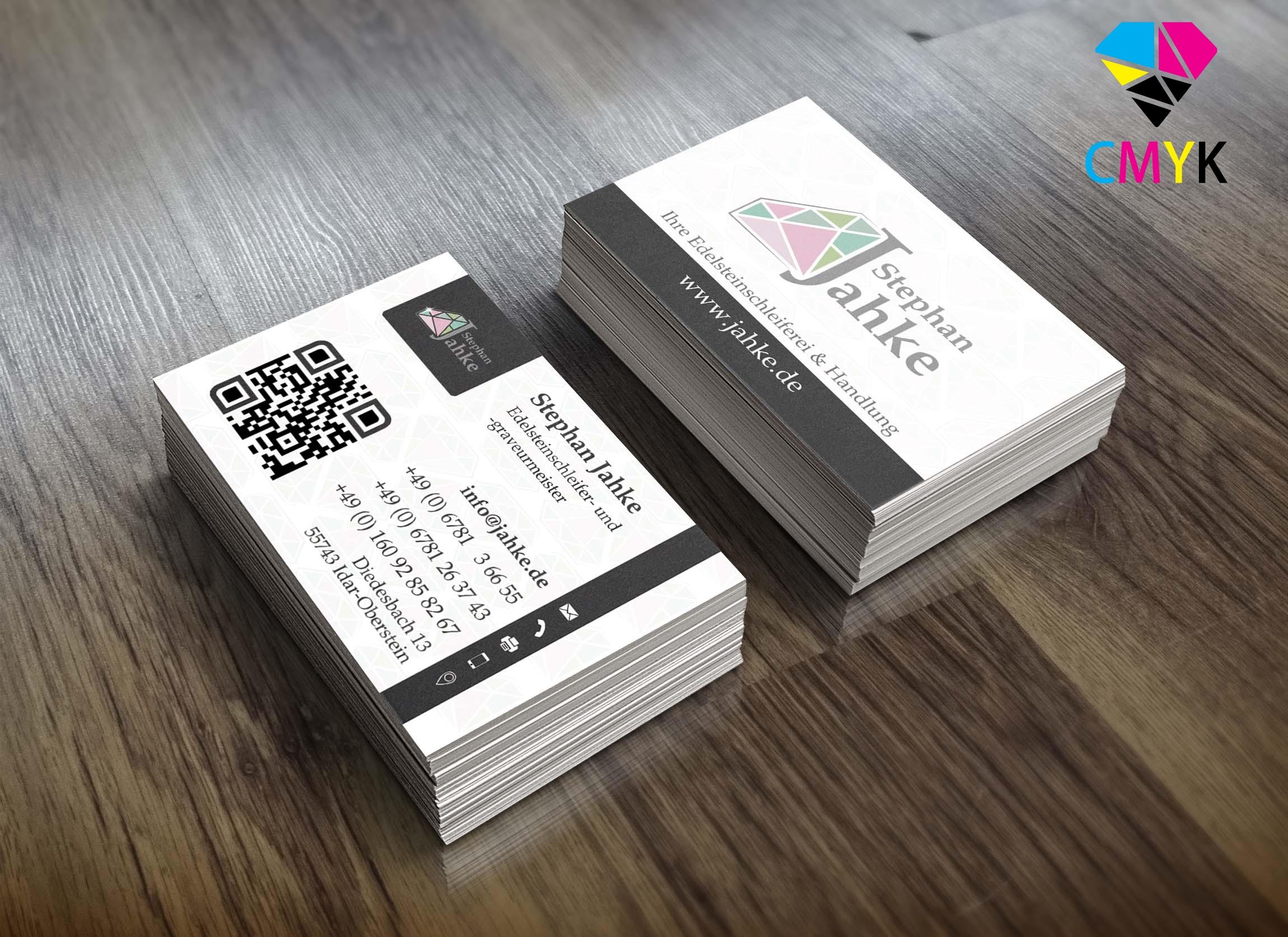 Klassische Visitenkarten 85 X 55 Mm 4 4 Farbig Beidseitiger Druck Drucken